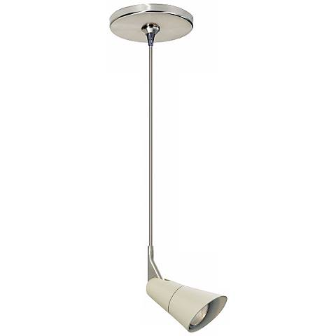 "Scania Linen 12"" Satin Nickel Tech Lighting Mini Pendant"