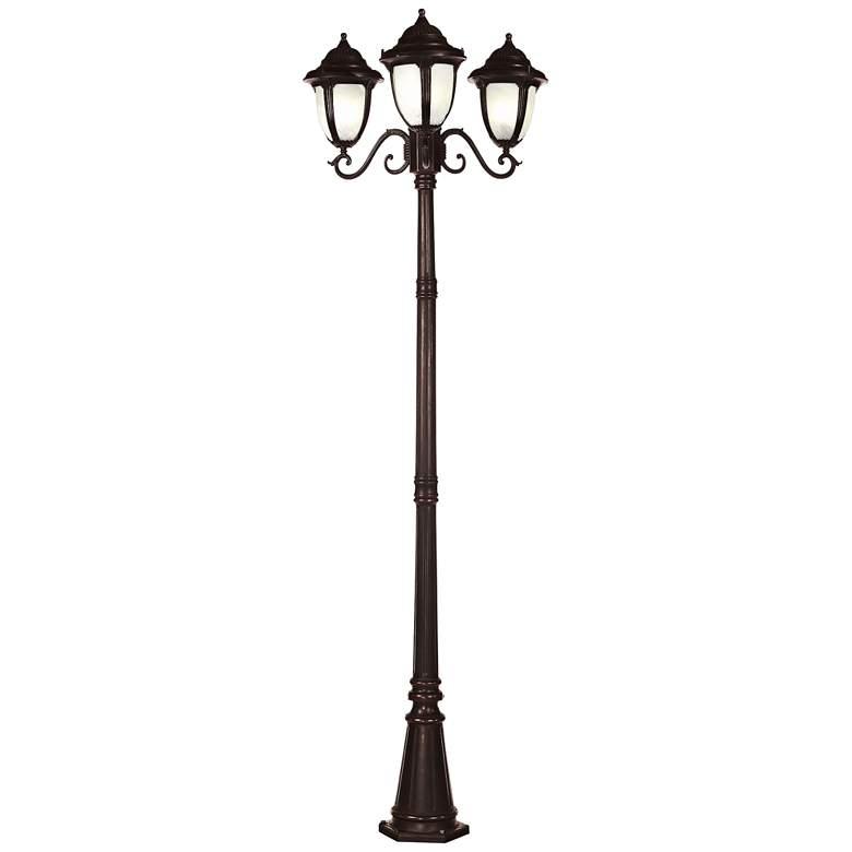 "Casa Sorrento™ Bronze 90 1/2""H 3-Light Post Light"