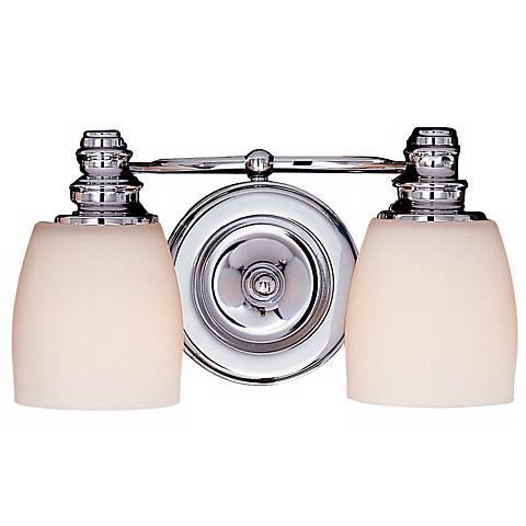 "Feiss Bentley 12"" Wide 2-Light Chrome Finish Bathroom Light"
