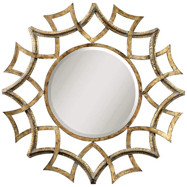"Uttermost  Golden Voyage 40"" Round Wall Mirror"