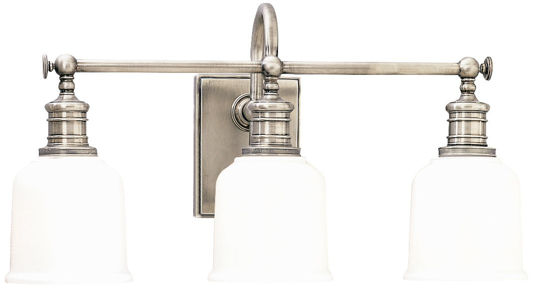Hudson Valley Keswick 21  Wide Satin Nickel Bath Light  sc 1 st  L&s Plus & Hudson Valley Keswick 21