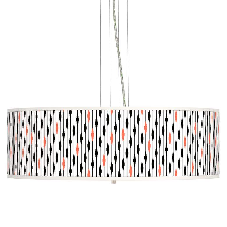 "Retro Lines Giclee 24"" Wide 4-Light Pendant Chandelier"