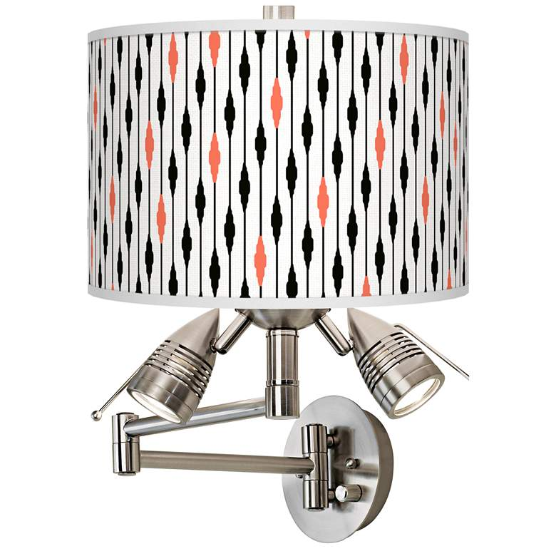 Retro Lines Giclee Plug-In Swing Arm Wall Lamp