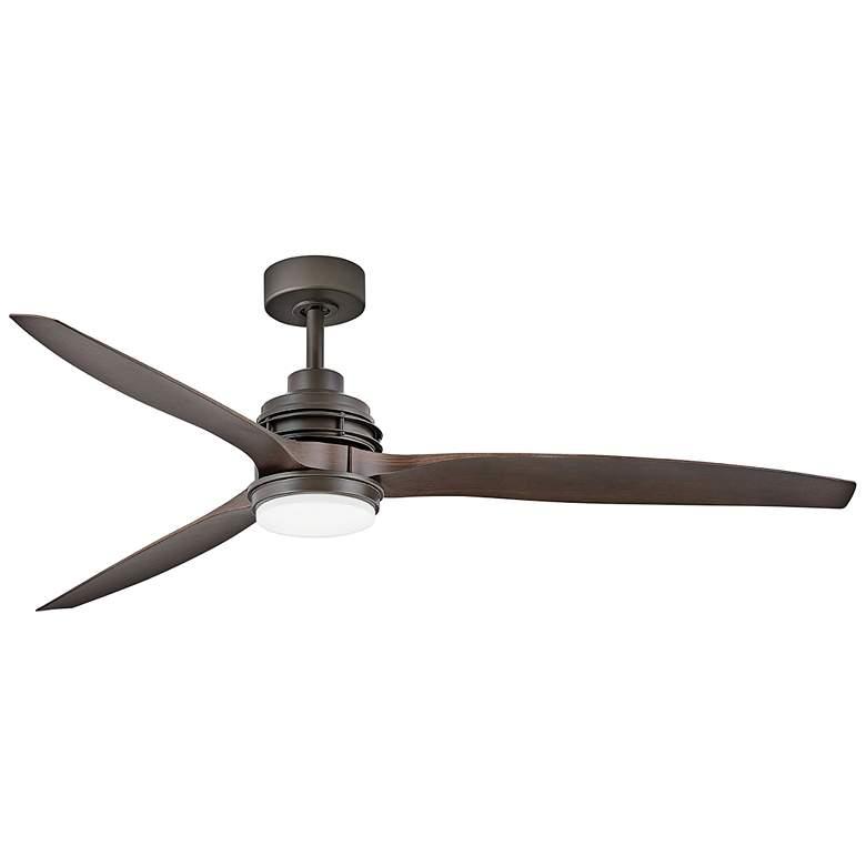 """60"""" Hinkley Artiste Matte Bronze LED Wet-Rated Ceiling Fan"""