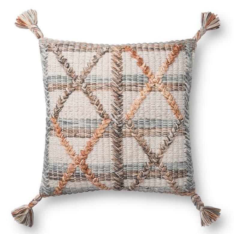 "Loloi Multi-Color Symmetrical 18"" Square Throw Pillow"
