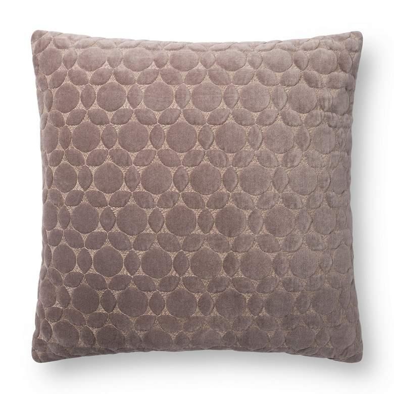 "Loloi Taupe Geometric 18"" Square Throw Pillow"