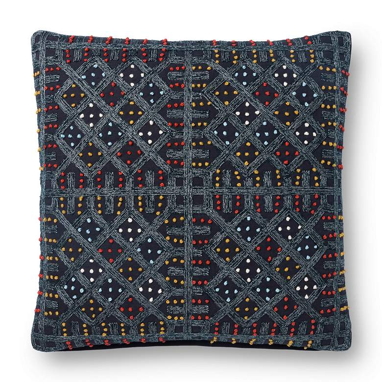 "Loloi Multi-Color Geometric 18"" Square Throw Pillow"