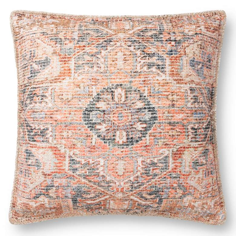 "Loloi Multi-Color Medallion 22"" Square Throw Pillow"