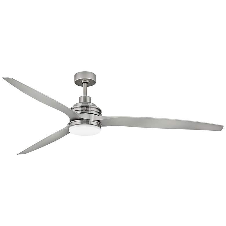 "72"" Hinkley Artiste Brushed Nickel LED Wet-Rated Ceiling Fan"