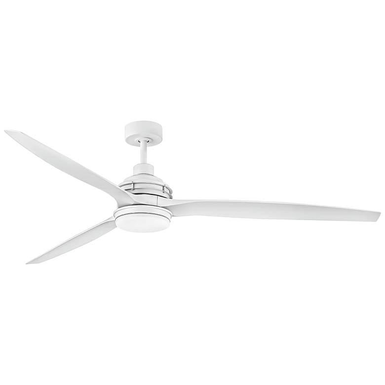 """72"""" Hinkley Artiste Matte White LED Wet-Rated Large Ceiling Fan"""