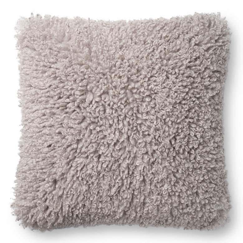 "Loloi Gray 22"" Square Decorative Throw Pillow"