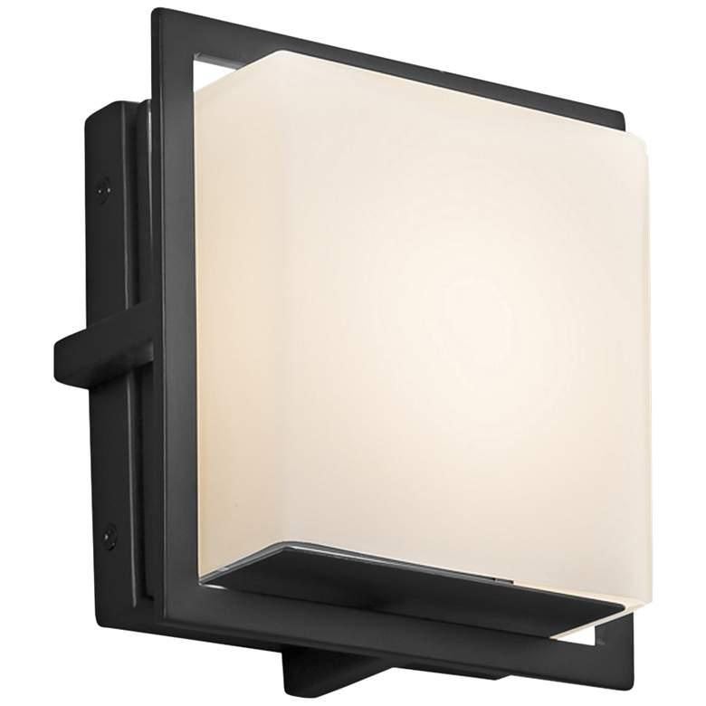 "Fusion Avalon 6 1/2"" High Black Opal LED Outdoor Wall Light"