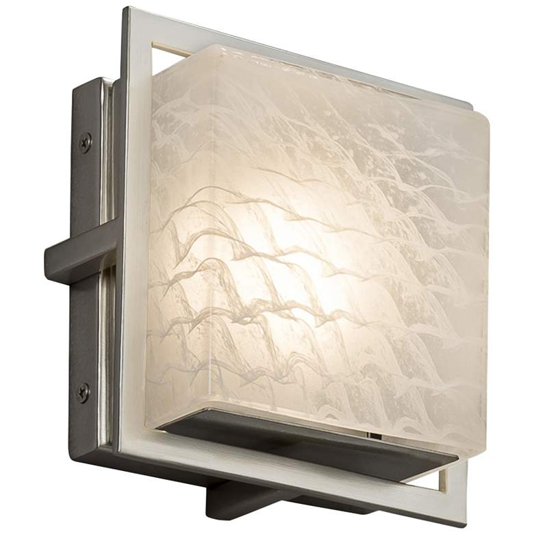 """Fusion Avalon 6 1/2""""H Brushed Nickel LED Outdoor Wall Light"""