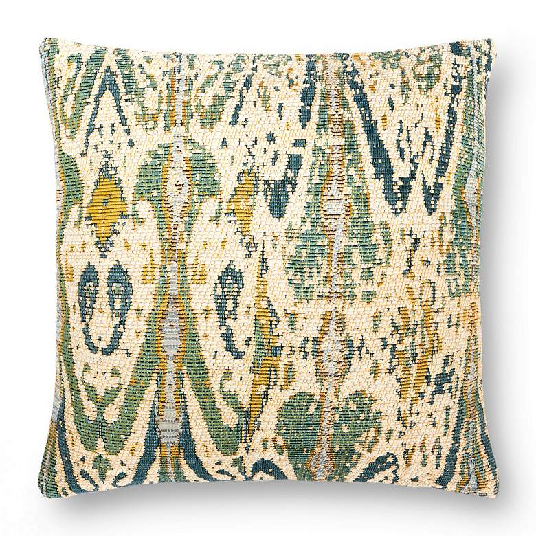 "Loloi Green 18"" Square Indoor/Outdoor Throw Pillow"