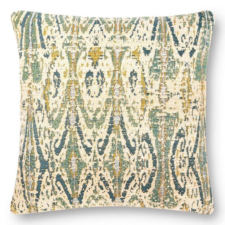 """Loloi Multi-Color 22"""" Square Outdoor Throw Pillow"""