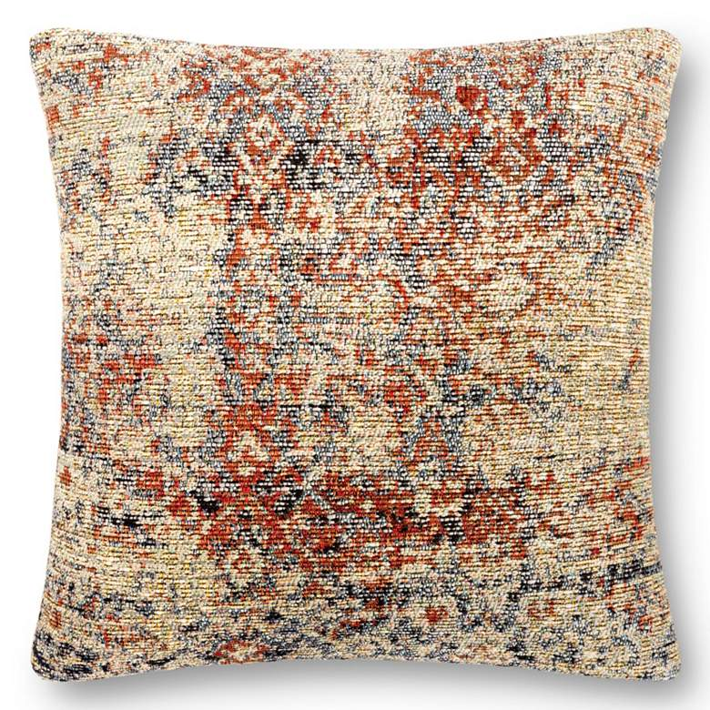 """Loloi Multi-Color 18"""" Square Outdoor Throw Pillow"""