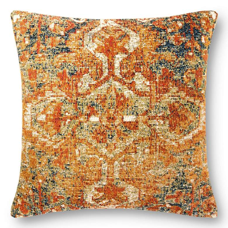 """Loloi Multi-Color 22"""" Square Indoor/Outdoor Throw Pillow"""