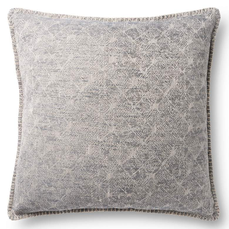 "Loloi Gray Jacquard Abstract 22"" Square Throw Pillow"