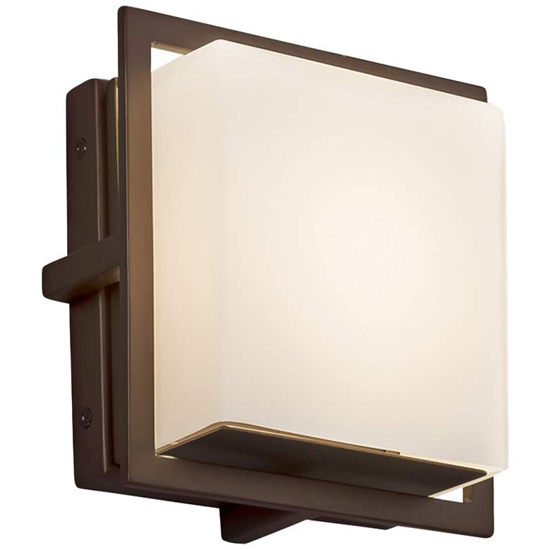 "Fusion Avalon 6 1/2"" High Dark Bronze LED Outdoor Wall Light"