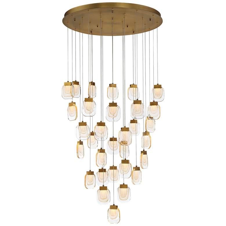 "Eurofase Paget 39"" Wide Gold LED Multi-Light Pendant"