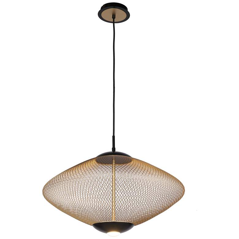 "Eurofase Park 21 1/2"" Wide Matte Black LED Pendant Light"