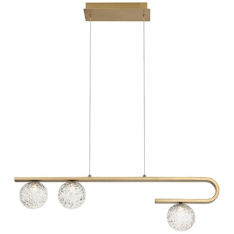 "Phillimore 31 1/2""W Brushed Gold 3-Light LED Island Pendant"
