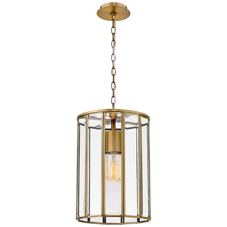 "Eurofase Saville 7 3/4"" Wide Brass Caged Mini Pendant Light"