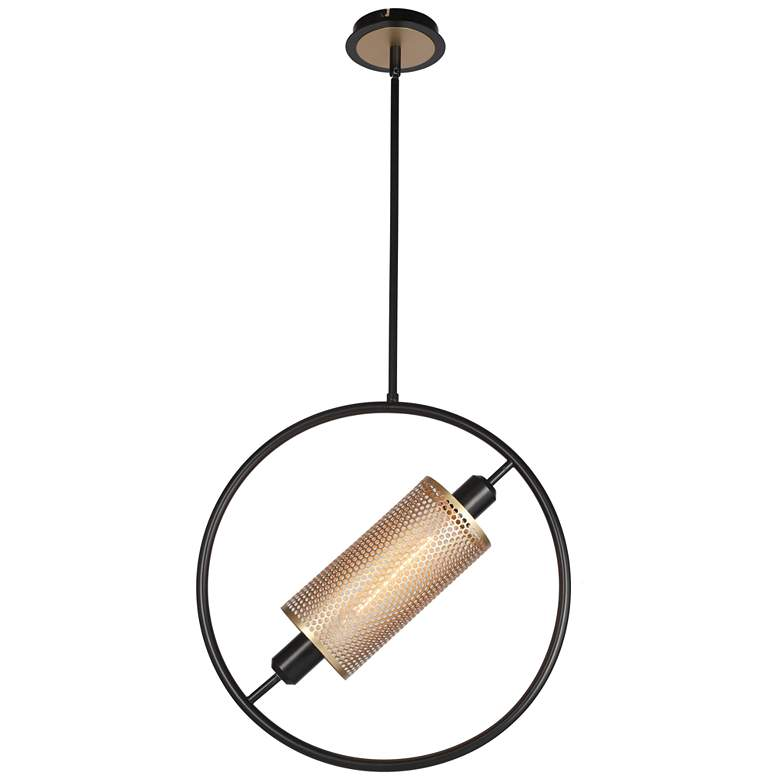 """Eurofase Seamore 18 3/4"""" Wide Black and Gold Pendant Light"""