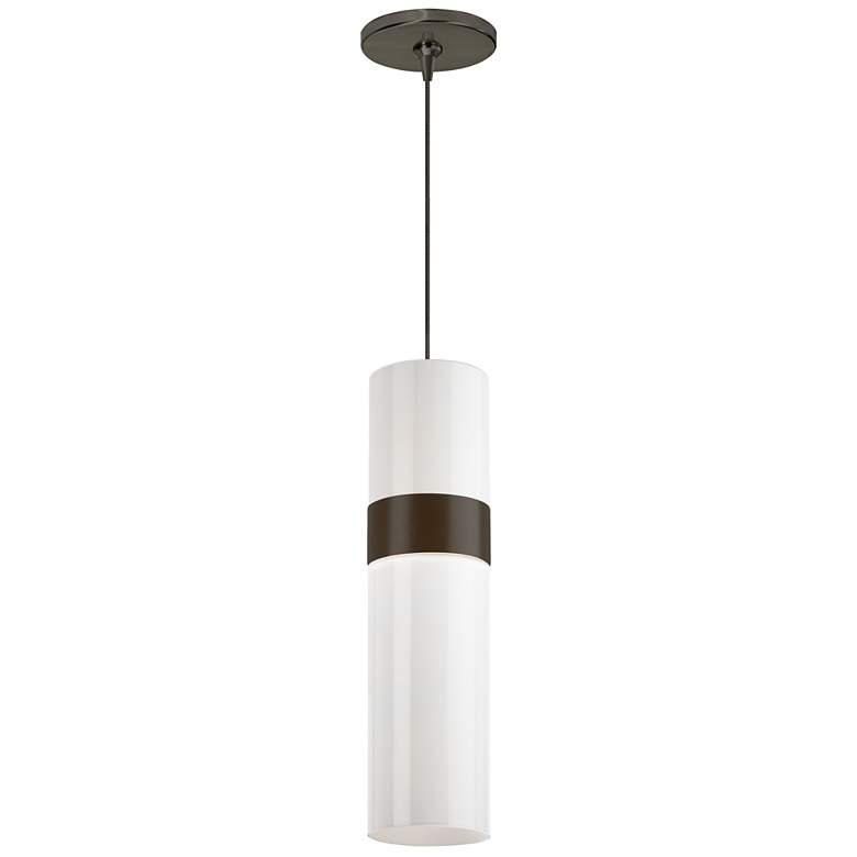 """Manette 3 1/2""""W White Glass LED Freejack Mini Pendant Light"""