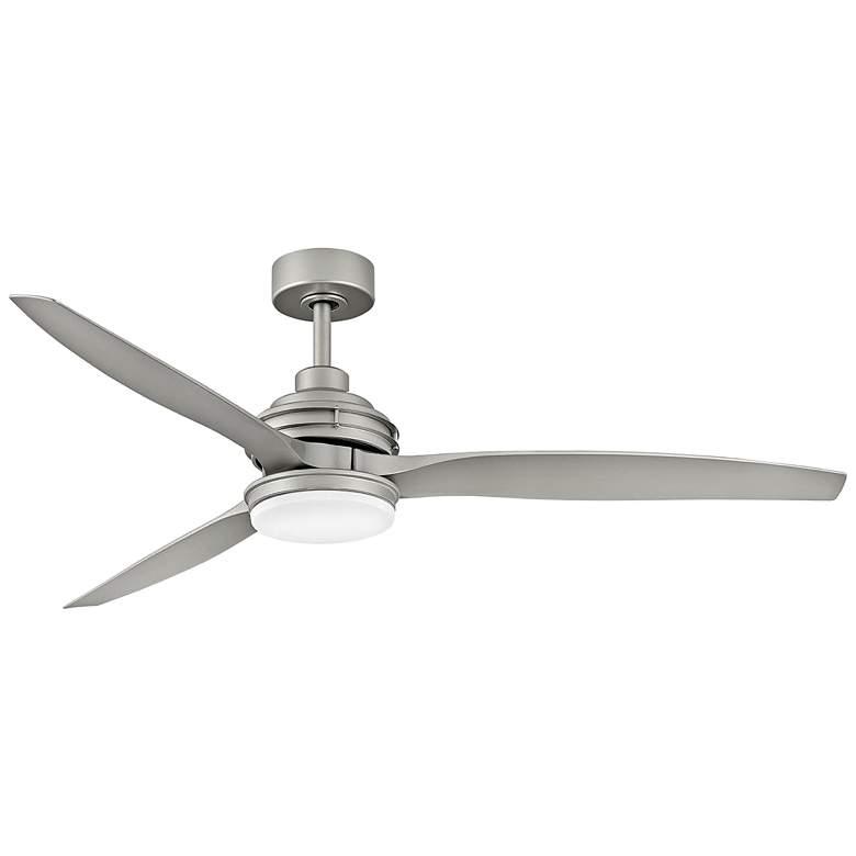 "60"" Hinkley Artiste Brushed Nickel LED Wet-Rated Ceiling Fan"