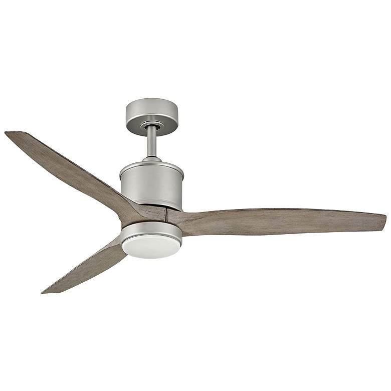 "52"" Hinkley Hover Brushed Nickel Wet LED Ceiling Fan"