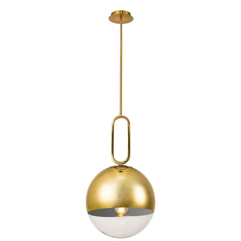 "Prospect 11 3/4"" Wide Clear Glass Gold Mini Pendant Light"