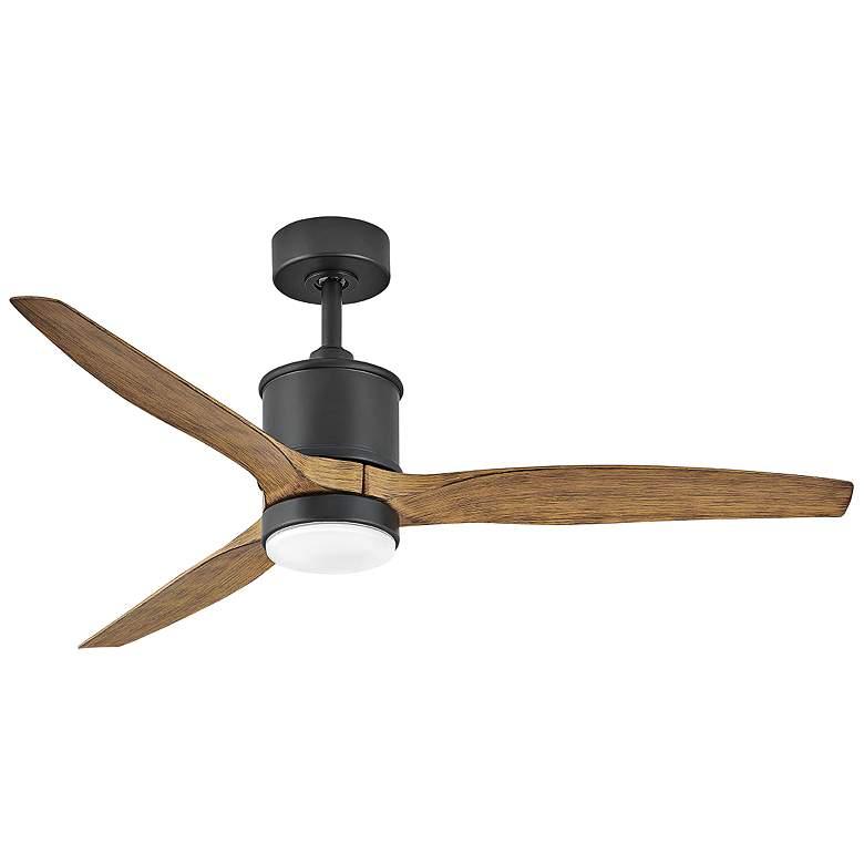 "52"" Hinkley Hover Matte Black Wet LED Ceiling Fan"