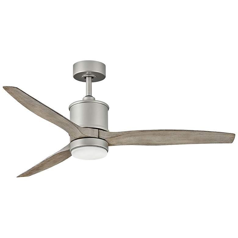 "60"" Hinkley Hover Brushed Nickel Wet LED Ceiling Fan"