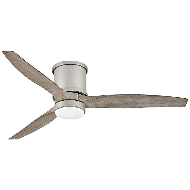 "52"" Hinkley Hover Brushed Nickel Wet LED Hugger Ceiling Fan"