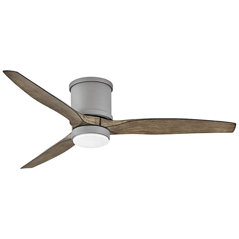 "52"" Hinkley Hover Graphite Wet LED Hugger Ceiling Fan"