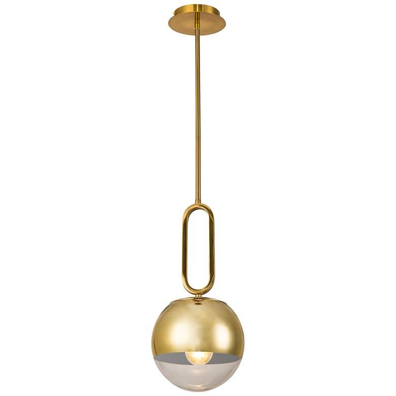 "Prospect 9 3/4"" Wide Clear Glass Gold Mini Pendant Light"