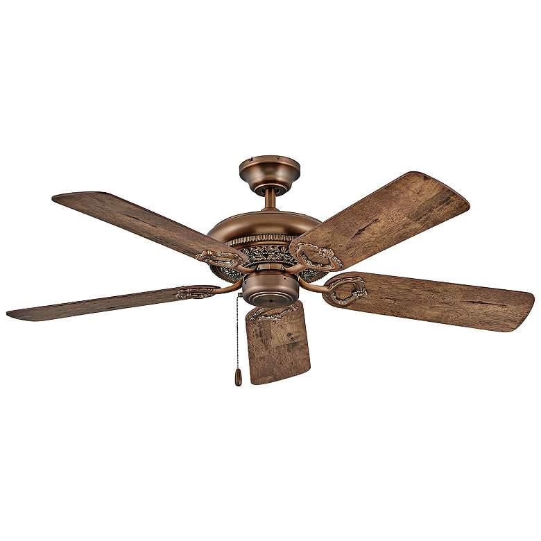 """52"""" Hinkley Lafayette Antique Copper Ceiling Fan"""