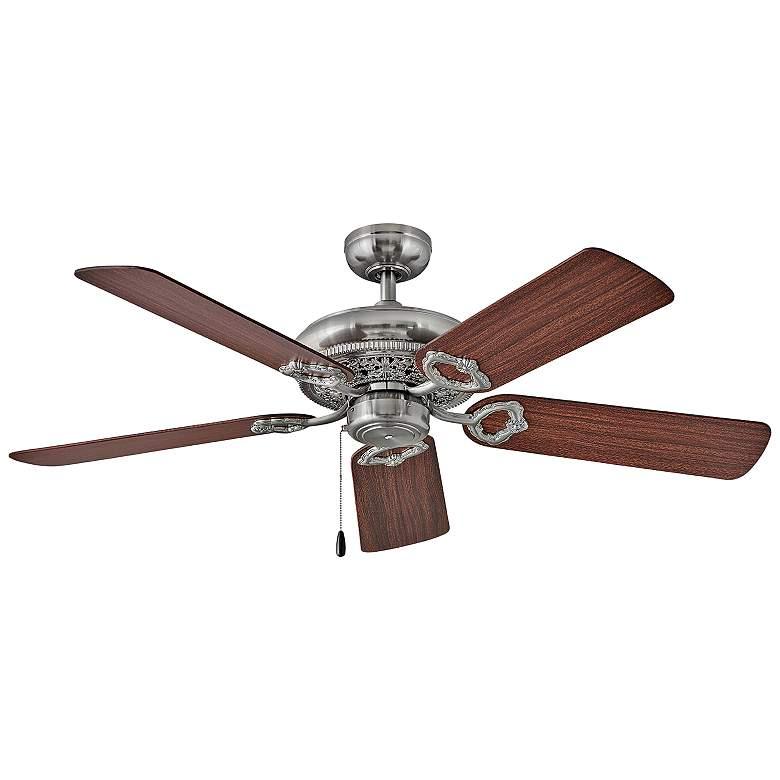 """52"""" Hinkley Lafayette Brushed Nickel Ceiling Fan"""