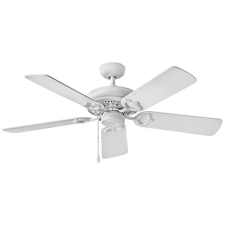 """52"""" Hinkley Lafayette Chalk White Ceiling Fan"""