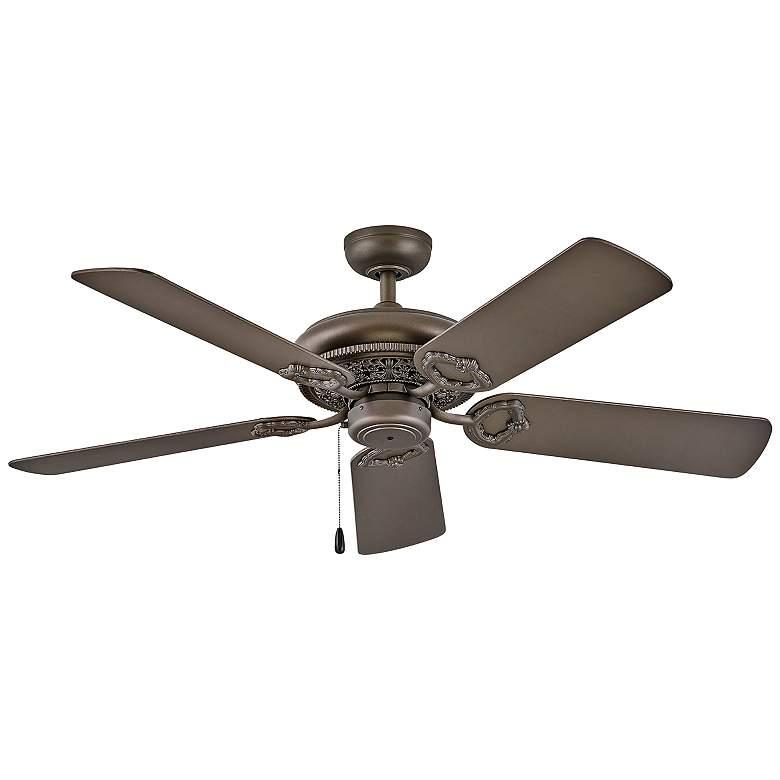 """52"""" Hinkley Lafayette Metallic Matte Bronze Ceiling Fan"""