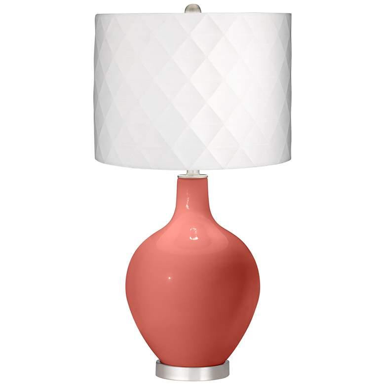 Coral Reef Off-White Diamond Shade Ovo Table Lamp