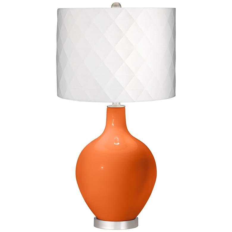 Invigorate Off-White Diamond Shade Ovo Table Lamp