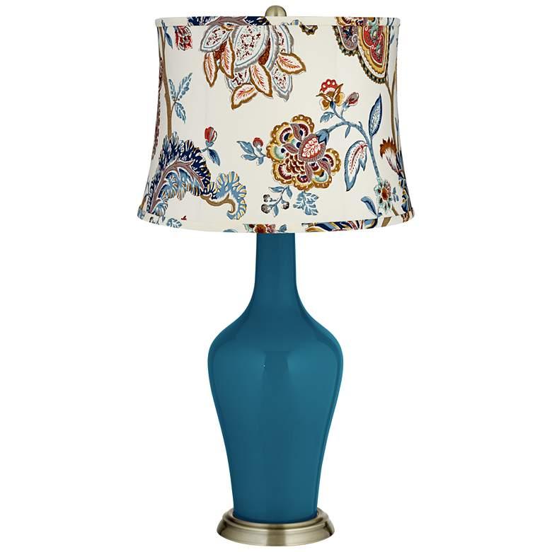 Oceanside Paisley Print Shade Anya Table Lamp