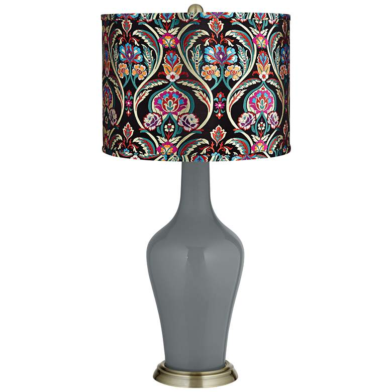 Software Multi-Color Embroidered Shade Anya Table Lamp