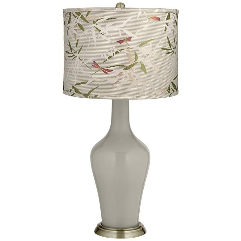 Requisite Gray Golden Bamboo Shade Anya Table Lamp