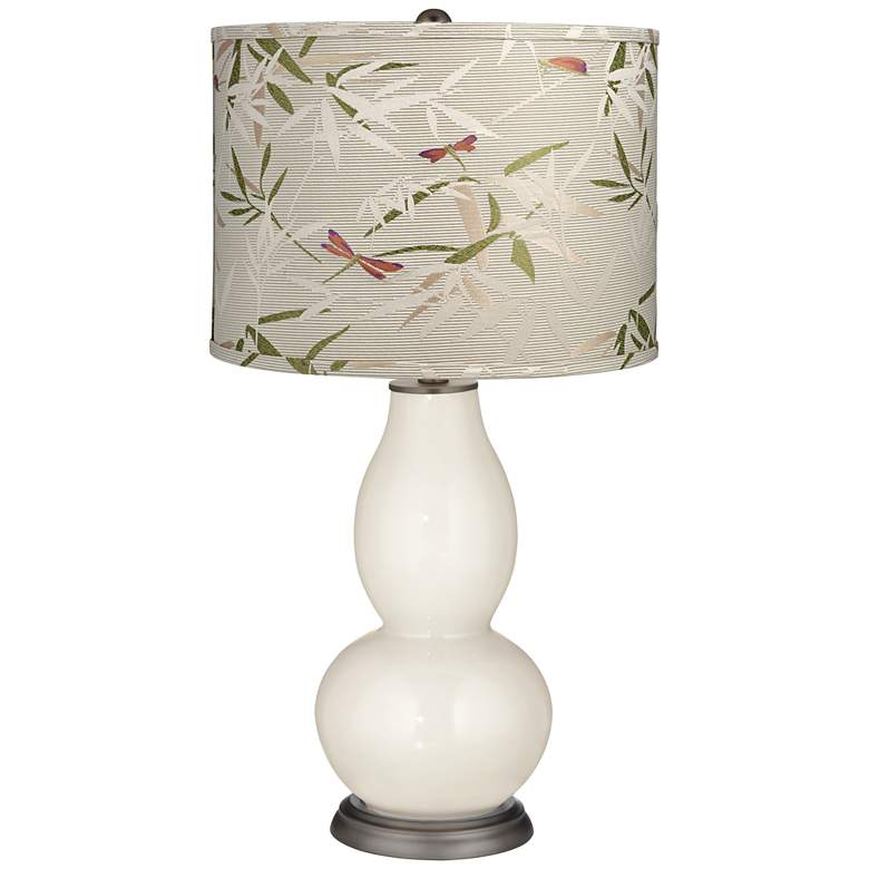 West Highland White Golden Bamboo Shade Double Gourd Table Lamp