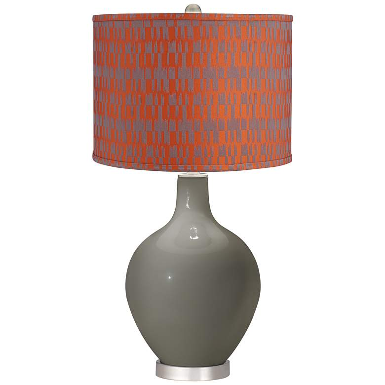 Gauntlet Gray Orange and Taupe Shade Ovo Table