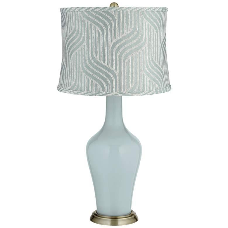 Rain Flensburg Blue Shade Anya Table Lamp