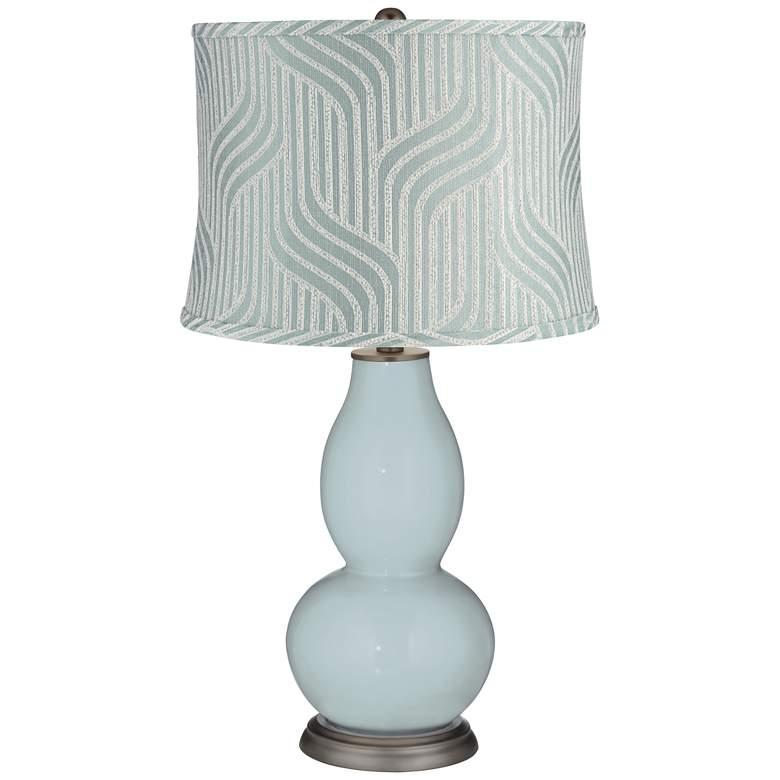 Rain Flensburg Blue Shade Double Gourd Table Lamp